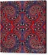 Americana Swirl Design 3 Canvas Print