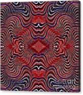 Americana Swirl Design 7 Canvas Print