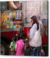 Americana - Vendor - Serving Chocolate Ice Cream Canvas Print