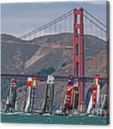 Americas Cup Catamarans At The Golden Gate Canvas Print