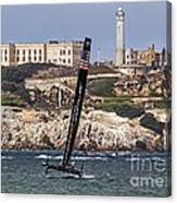 Americas Cup Oracle Team And Alcatraz Canvas Print