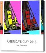 America's Cup Poster 3 Canvas Print
