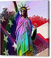 America's Statue Of Liberty Canvas Print