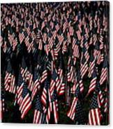 Field Of Flags - Sturbridge Mass. Canvas Print