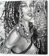 Amerikan Woman Canvas Print