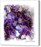 Amethyst Crystals 1. Elegant Knickknacks Canvas Print