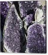 Amethyst Geode Pieces Canvas Print