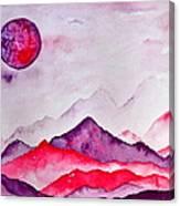 Amethyst Range Canvas Print