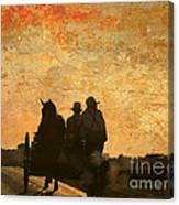 Amish After A Hard Days Work Canvas Print