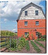 Amish Barn And Garden Canvas Print