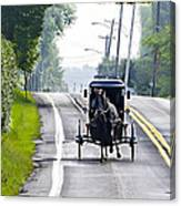 Amish Buggy In Lancaster County Pa. Canvas Print