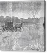 Amish Buggy In Old Book Canvas Print
