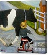 Amish Cattle Crossing Canvas Print