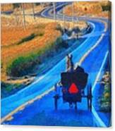 Amish Horse And Buggy In Autumn Canvas Print