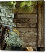 Amish Wood Shed Canvas Print