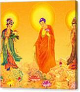 Amitabha And Two Bodhisattvas Canvas Print