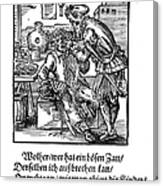 Amman: Dentist, 1568 Canvas Print