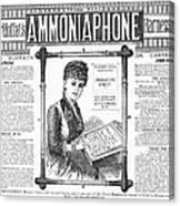 Ammoniaphone, 1885 Canvas Print