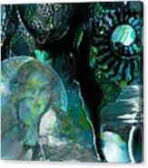 Ammonite Seascape Canvas Print