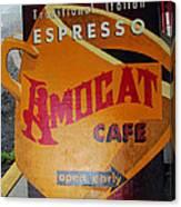 Amocat Cafe Canvas Print