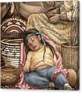 Among Mother's Baskets Canvas Print