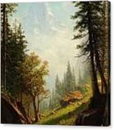 Among The Bernese Alps Canvas Print