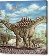 Ampelosaurus dinosaur Canvas Print