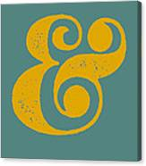 Ampersand Poster Blue And Yellow Canvas Print