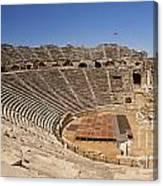 Amphitheatre In Side Turkey Canvas Print