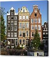 Amsterdam - Old Houses At The Herengracht Canvas Print