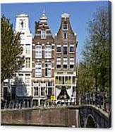 Amsterdam - Old Houses At The Keizersgracht Canvas Print