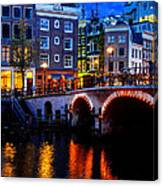 Amsterdam At Night II Canvas Print