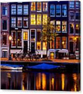 Amsterdam At Night IIi Canvas Print