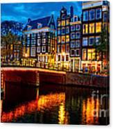 Amsterdam At Night Iv Canvas Print
