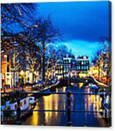 Amsterdam At Night V Canvas Print