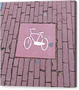 Amsterdam Bicycle Lane Canvas Print