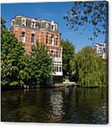 Amsterdam Canal Mansions - Floating By Canvas Print