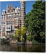 Amsterdam Canal Mansions - The Dainty Tower Canvas Print