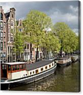Amsterdam Canal Waterfront Canvas Print