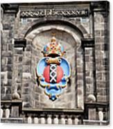 Amsterdam Coat Of Arms On Westerkerk Tower Canvas Print