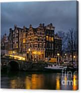 Amsterdam Corner Cafe Canvas Print