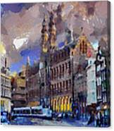 Amsterdam Daily Life Canvas Print