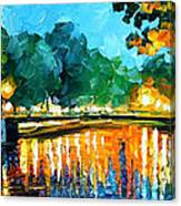 Amsterdam-early Morning - Palette Knife Oil Painting On Canvas By Leonid Afremov Canvas Print