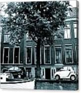 Amsterdam Electric Car Canvas Print