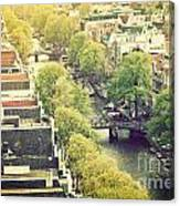 Amsterdam Holland Netherlands In Vintage Style Canvas Print