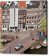 Amsterdam Houses From Above Canvas Print
