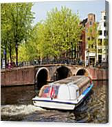 Amsterdam In Spring Canvas Print