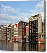 Amsterdam Old Town At Sunset Canvas Print