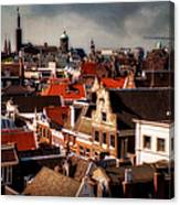 Amsterdam Roofs. View From Metz Cafe Canvas Print