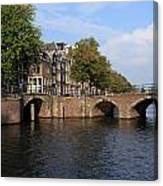 Amsterdam Stone Arch Bridge Canvas Print